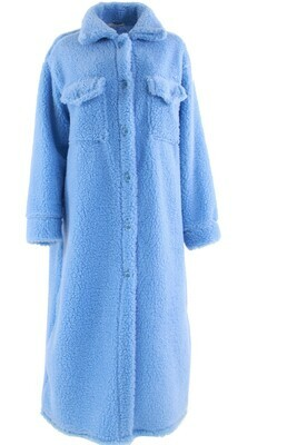 8801-21 blauw Teddy vest/jas - Ambika