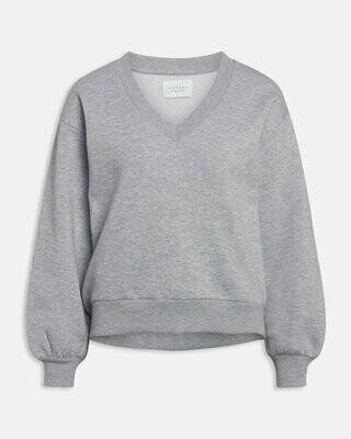 13537 light grey Peva sweater v hals - Sisters Point