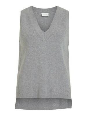 14067804 Medium Grey Melange Vest - Vila