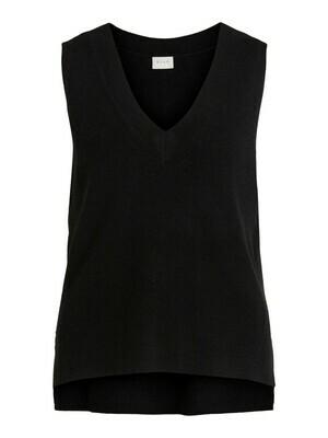 14067804 Black Viril V-neck Vest - VILA