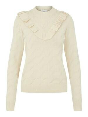 23034991 Sandshell OBJDARMA knit pullover- Object