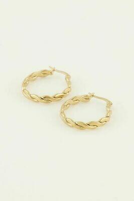 MJ04358 goud/gold oorbellen - My Jewellery