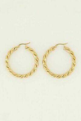 MJ04080 goud/gold oorbellen - My Jewellery