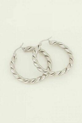 MJ04080 zilver oorbellen - My Jewellery
