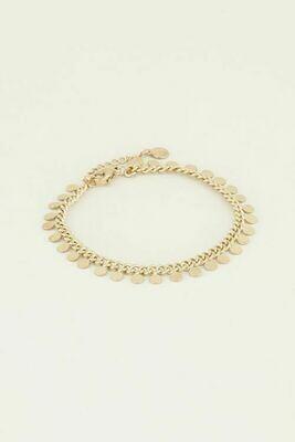 MJ71088318 goud/gold Armband met muntje - My Jewellery