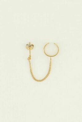 Mj04273 goud/gold Ear cuff slang stud - My Jewellery