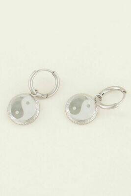 MJ03722 zilver Oorbellen Yin&Yang - My Jewellery