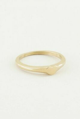 MJ02334 Goud Ring Met Hartje-My Jewellery