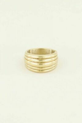 MJ03358 Goud Ring Met Laagje -My Jewellery