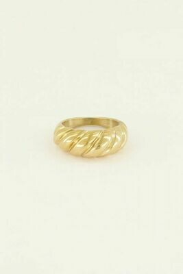 MJ03306 goud/gold Ring Gedraaid-My Jewellery