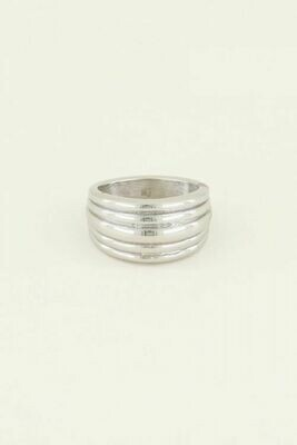 MJ03358 zilver Ring met Laagje -MY Jewellery