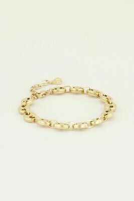 MJ03024 goud/gold Armband Bold-My Jewellery