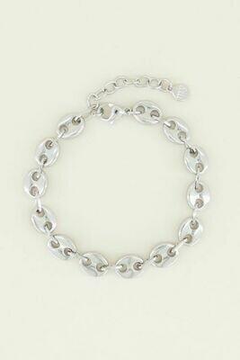 MJ03024 zilver Armband Bold-My Jewellery