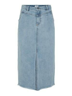 23035217 Light Blue Denim OBJMoji Cutline Skirt - Object
