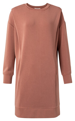 1809308-111 RUSSET Dress With Pleats on shoulder-YaYa
