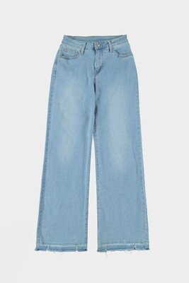 JD317-1 light blue Flared jeans- Turquoise by Daan