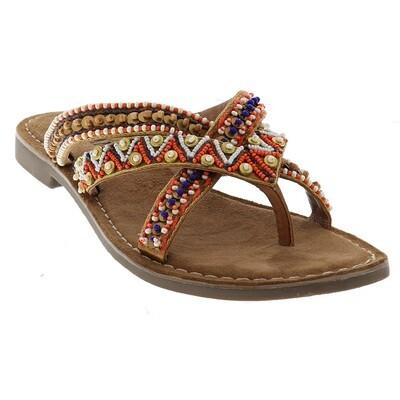 75.526 Tan slipper Lazamani