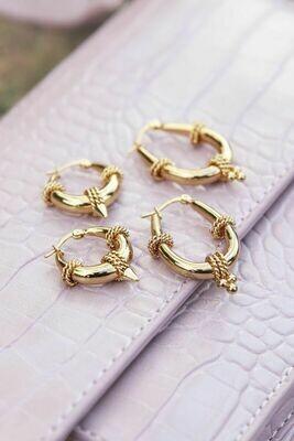 MJ01568 Goud Chunky Chain oorbelen My Jewellery