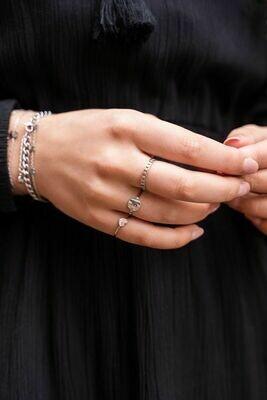 MJ00402 Zilver Ring Klein Hartje - My Jewellery