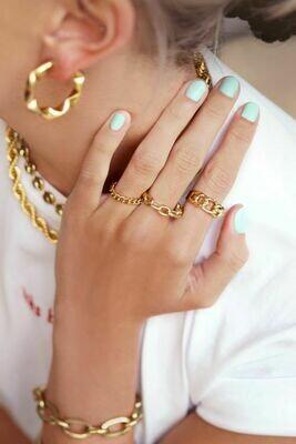 MJ00831 Goud ring My Jewellery