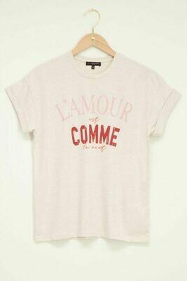 MJ04848 Beige - T-shirt L'amour est comme - My Jewellery