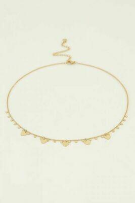 MJ04399 Goud hartjes en bedels - My Jewellery