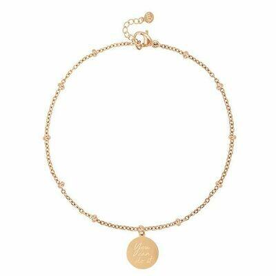 MJ04861 goud/gold - You can do it bracelet - My Jewellery