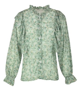 10367-21 blouse Fanka flower mint - Typical Jill