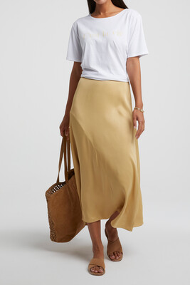 140183-014 Satinn A-line skirt - YaYa