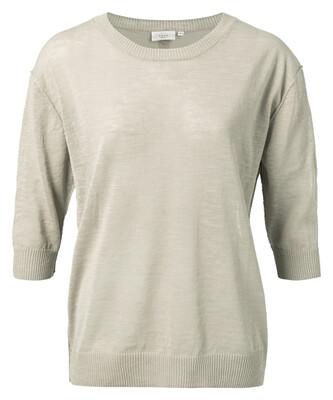 1000258-115 sweater katoen/linnen BLEACHED SAND-YaYa