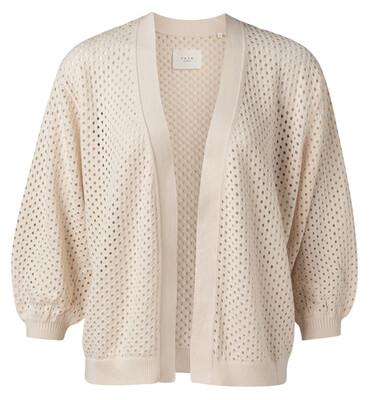 1010125-115 Mesh stitch cardigan SHEER PINK - YaYa