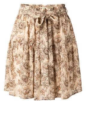 1401140-115 Viscose printed skirt- SHEER PINK DESSIN-YaYa