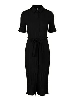 17113895 PCTiana midi dress -BLACK- Pieces