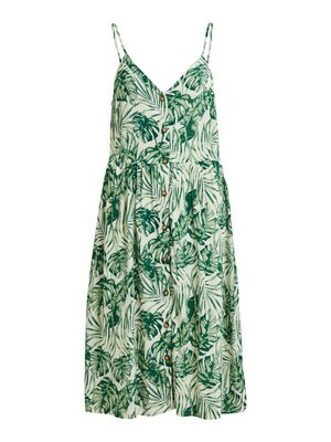 14064789 Mouwloze jurk Visanne- Cloud Dancer/TIGER -Vila