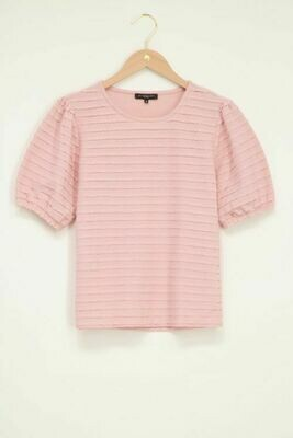 MJ05071 Roze top met gerafelde randen-My Jewellery