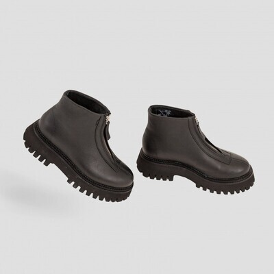 Groov-Y boot Front zip 47369-A black-Bronx shoes