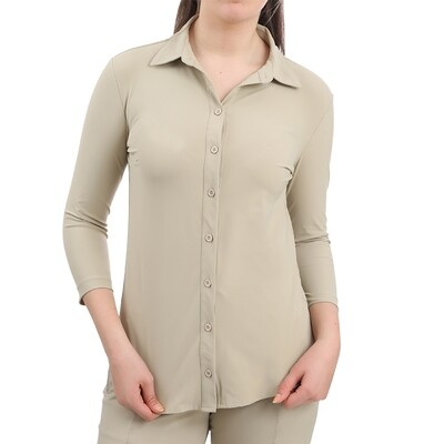 Blouse Travel RC202031 beige-Realize