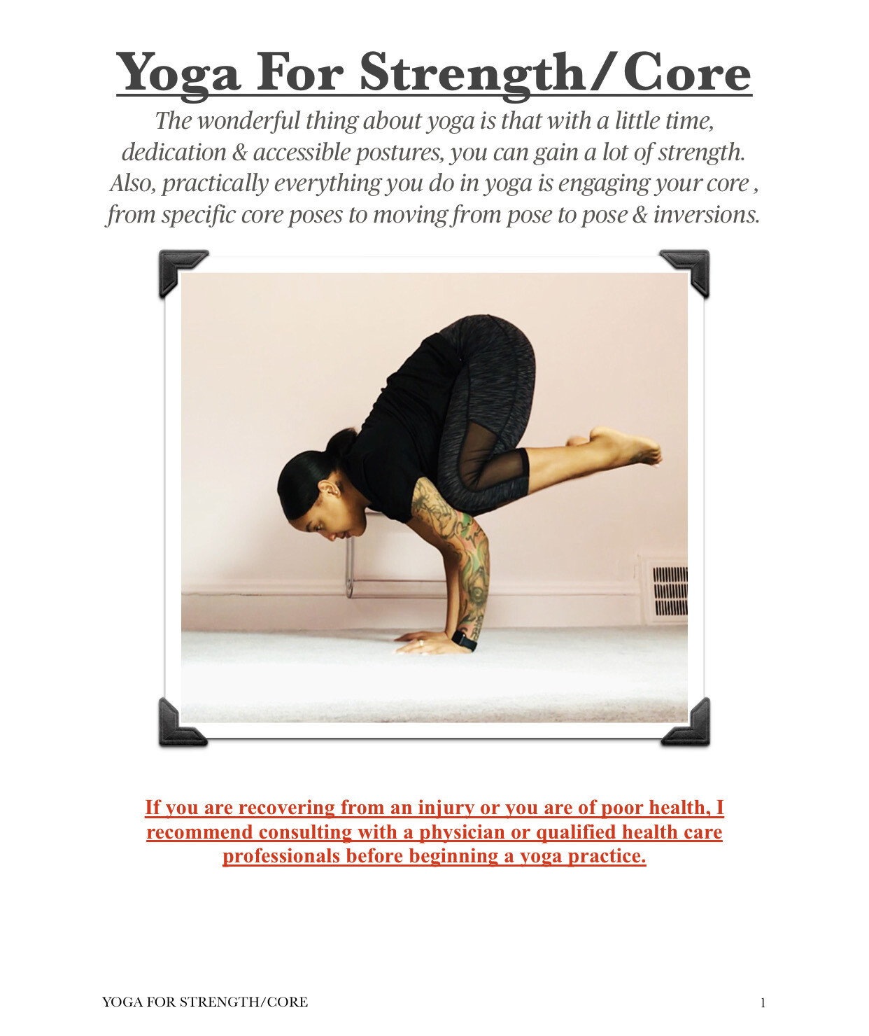 Yoga For Strength/Core