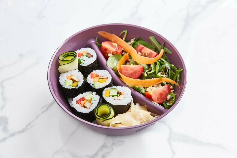 Montag: Sushi mit Tofu und Salat