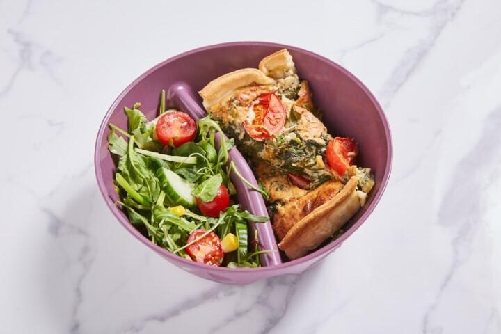 Sommer Quiche mit Salat