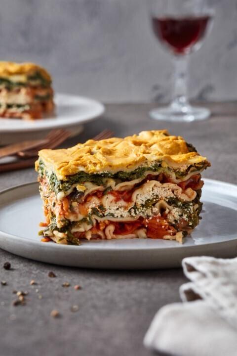Spinat-Tomaten-Lasagne