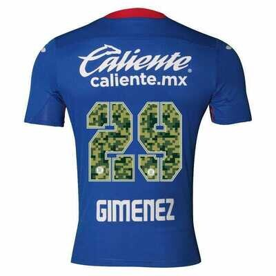 Joma Cruz Azul  GIMÉNEZ 29 Home  Army Jersey20/21 (Special Edition)