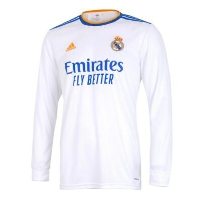 21-22 Real Madrid Home Long Sleeve Jersey