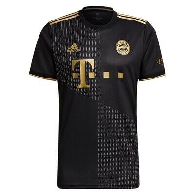 Bayern Munich Away Black Replica Jersey 21-22