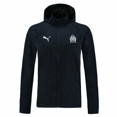 Olympique de Marseille Navy Windrunner Hoodie Jacket 20-21