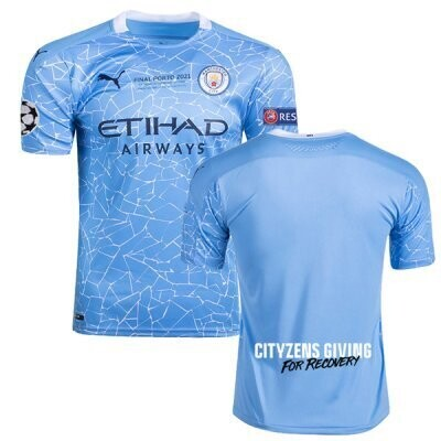 20-21 Manchester City Home Authentic UCL Final Jersey( Player Version)