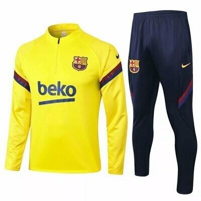 Barcelona Yellow Training Suit 20-21