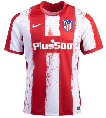 21-22 Atletico Madrid Home Authentic Jersey (Player Version)