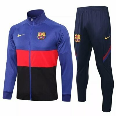 Barcelona Blue& Red Black Training Jacket Kit 20-21