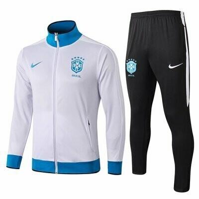 Brazil White High Neck Jacket Kit 19-20